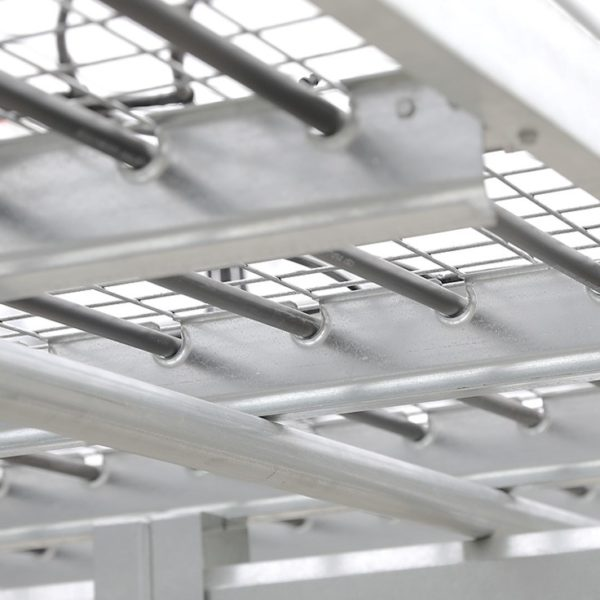 biotherm solutions megatube tubing installed on greenhouse bench